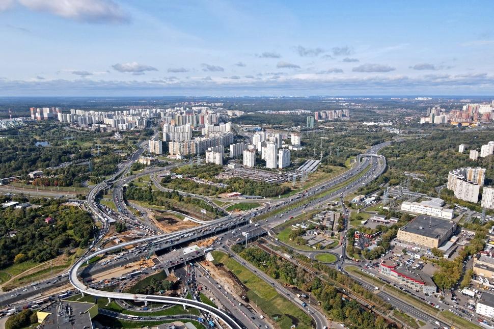 Открытие МКАД на развязке с Волоколамским-Пятницком шоссе.